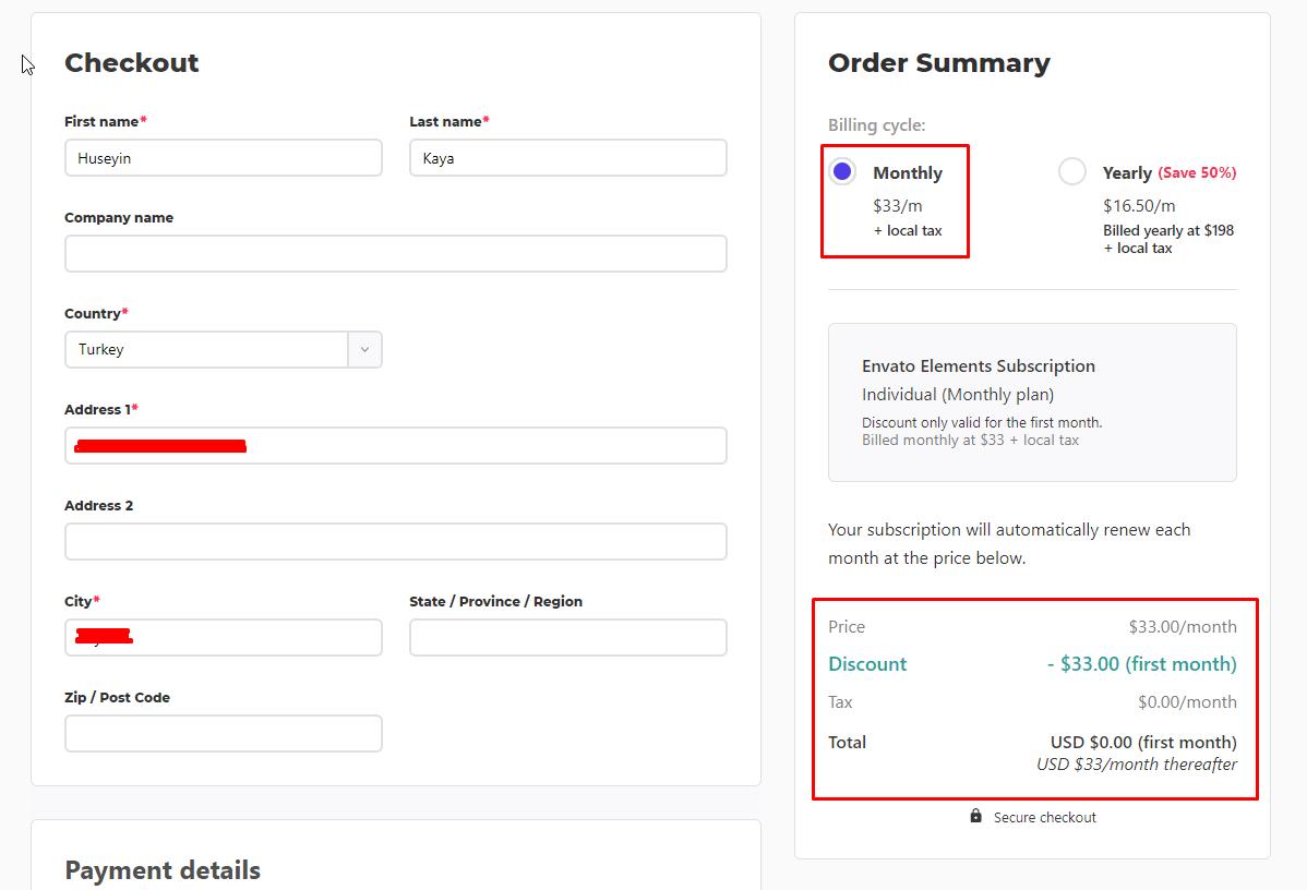 Envato Elements 1 aylık ücretsiz hesap alma