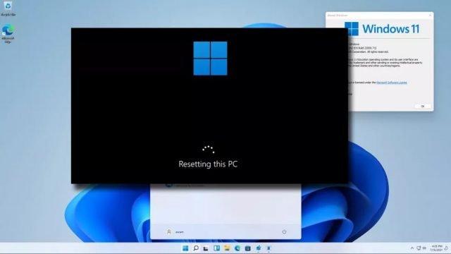 windows 11 sıfırlama